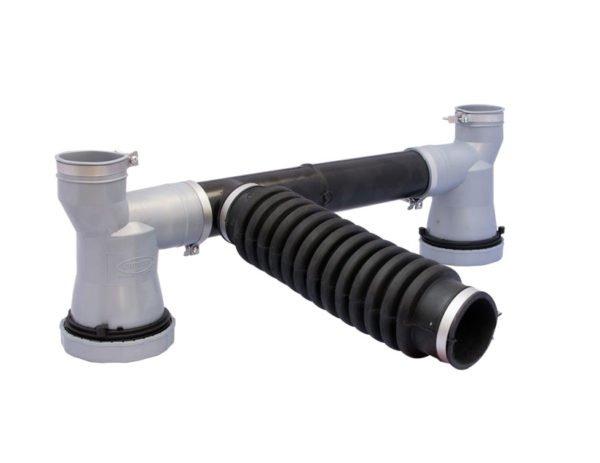 art. 124 Sifón CRUPIER doble PVC con 2 sifones